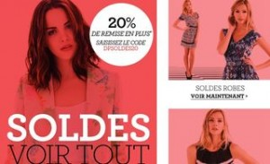 20% supplémentaires SOLDES Dorothy Perkins (code promo)
