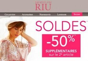 Soldes Jacqueline Riu : jusqu'à moins 60% + -50% sur le deuxième article