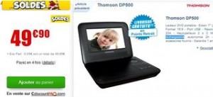 """Moins de 50 euros lecteur DVD portable Thomson 7"""" / SOLDES"""