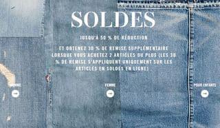 SOLDES LEVIS 30 POURCENT SUPPLEMENTAIRES
