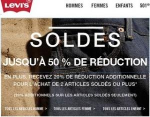 Soldes Levi's : 20% supplémentaires sur les soldes