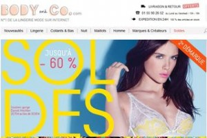 SOLDES LINGERIE BODY AND CO 2013