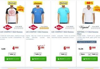 T-shirt de marques à moins de 10 euros