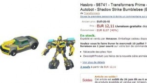 SOLDES Transformers Prime Robots in Disguise Shadow Strike Bumblebee à 12,11 euros