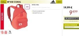Moins de 10 euros le sac à dos Adidas (livraison gratuite)