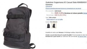 Sac à dos Quiksilver Sugarmana X3 à 13,50 euros