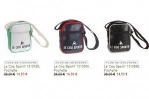 Sac bandoulière Le Coq Sportif en soldes moins de 15 euros port inclus