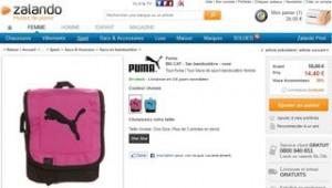 Sac bandoulière Puma rose