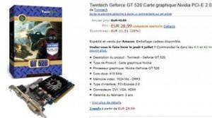Solde Carte Video GeForce GT 520 NVIDIA