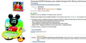 Soldes Ordinateur enfant Mickey Club House Clementoni 26 euros