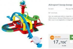 Soldes aeroport Beep-Beep a moins 70 pourcents