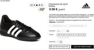 low priced c3ea9 dd060 Moins de 10 euros chaussure de sport Adidas enfant (du 28 au 33)   livraison gratuite en magasin