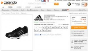27 euros Chaussures femme Adidas Performance SUMBRAH 2 au lieu de 60 euros (livraison gratuite)