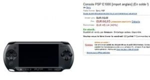 Soldes console Sony PSP E1000