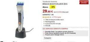 Soldes tondeuse/rasoir Braun BodyCruzer B55