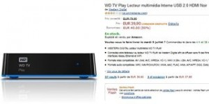 Vente flash Lecteur Multimedia externe WD TV Play Wi-Fi