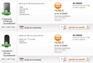 moins de 15 euros les t l phones reconditionn s orange sans engagement livraison gratuite. Black Bedroom Furniture Sets. Home Design Ideas