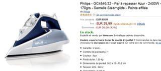 Vente flash fer a repasser Philips Azur 2400w
