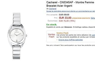 Vente flash montre Cacharel à 33 euros