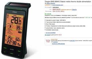 Vente flash station météo Oregon Scientifique 36 euros