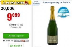 champagne soldé à moins de 10 euros