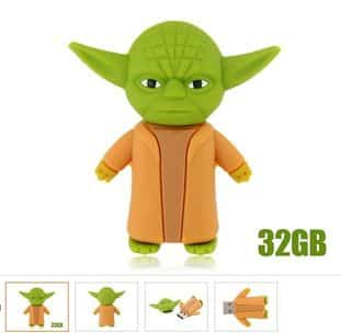 18 euros la cl usb 32go docteur yoda port inclus et autres cl s usb pas ch res. Black Bedroom Furniture Sets. Home Design Ideas