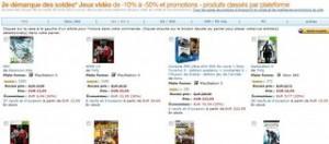 2éme démarque soldes Jeux vidéo Amazon