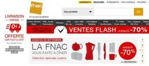 livraison gratuite vente flash FNAC