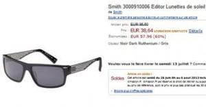 lunettes Paul Smith en soldes à moins de 40 euros