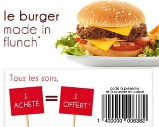 offre 1 Burger Flunch gratuit