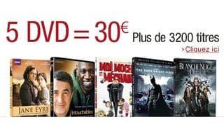 offre speciale 5 DVD pour 30 euros