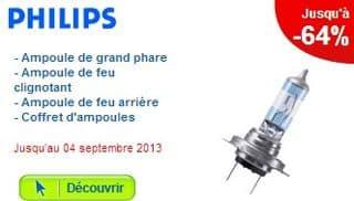 réduction sur les ampoules de voiture Philips