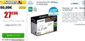 Moins de 28 euros les 2 adaptateurs CPL 500 Mbps Trendnet