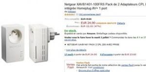 2 pack CPL 200 Mbit/s avec prise à moins de 25 euros