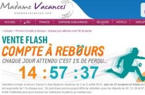 vente flash madame vacances juillet 2013