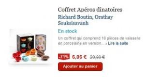 6 euros Coffret Aperos dinatoires recettes et16 pieces au lieu de 20 euros