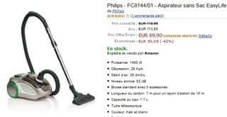 Aspirateur sans Sac Philips EasyLife au plus bas prix