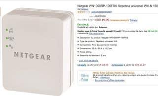 12,49 euros le Répéteur universel Wifi-N 150 mobiles (port inclus)