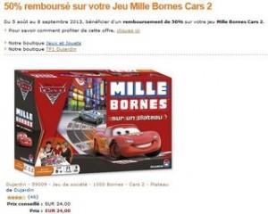 ODR Mille Bornes plateau Cars 2 Dujardin