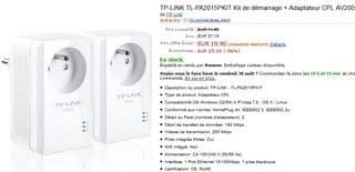 PROMO 2 Adaptateurs CPL avec prise integee moins de 20 euros