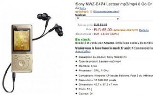 lecteur Mp4 Sony vente flash