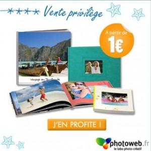 Offre bienvenue : livre photo à partir de 1 euro, 100 tirages à 3 euros…