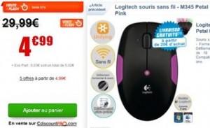 souris sans fil Logitech M345 a moins de 5 euros