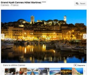 vente privee Hotel Martinez Cannes - Grand Hyatt