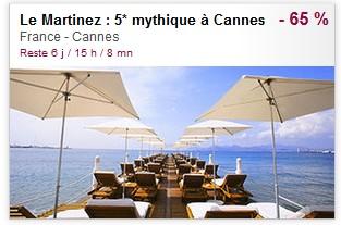 vente privée Hôtel Martinez Cannes