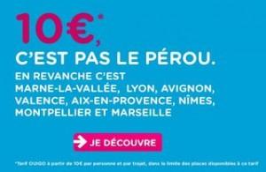 10 euros les Billets OUIGO de Lyon à Marseille, Aix, Montpellier ou Avignon (et certaines autres villes de départ)