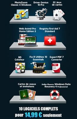 10 logiciels complets pour moins de 15 euros