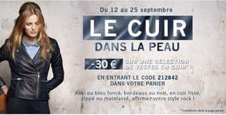 30 euros de réduction sur les vestes en cuir  123