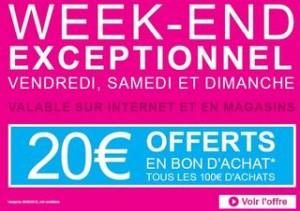 20 euros offerts pour 100 euros chez Aubert