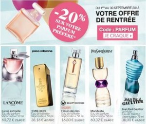 Bon plan parfum : code promo -20% Beauty Success